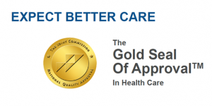 The Joint Commission Award for Highest National Standards for Safety and Quality of Care Seal